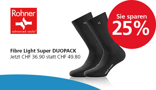 Rohner Socken Fibre Light Super DUOPACK